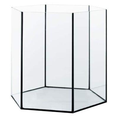Hatszögletű akvárium 25 literes